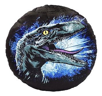 Jurassic World 75457 Blue Cojín Redondo de Peluche – Ambos Lados – Diámetro: ...
