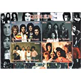 Rock Music Legend Queen Band Souvenir Sheet with 4 perforated stamps / 2014 / Chad / MNH