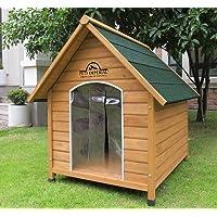 Kennels Imperial® Sussex Cuccia Per Cani Canile in Legno di Talla XL con Pavimento Rimovibile per La Pulizia Facile B