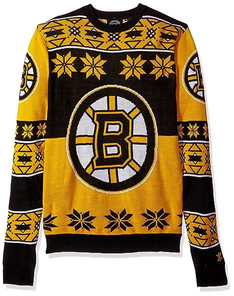 6fa06749f95 Amazon.com : NHL Big Logo Ugly Crew Neck Sweater : Clothing