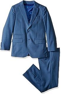 5ba1ec8ba Amazon.com  Isaac Mizrahi Boys  Textured 2pc Slim Fit Solid Suit ...