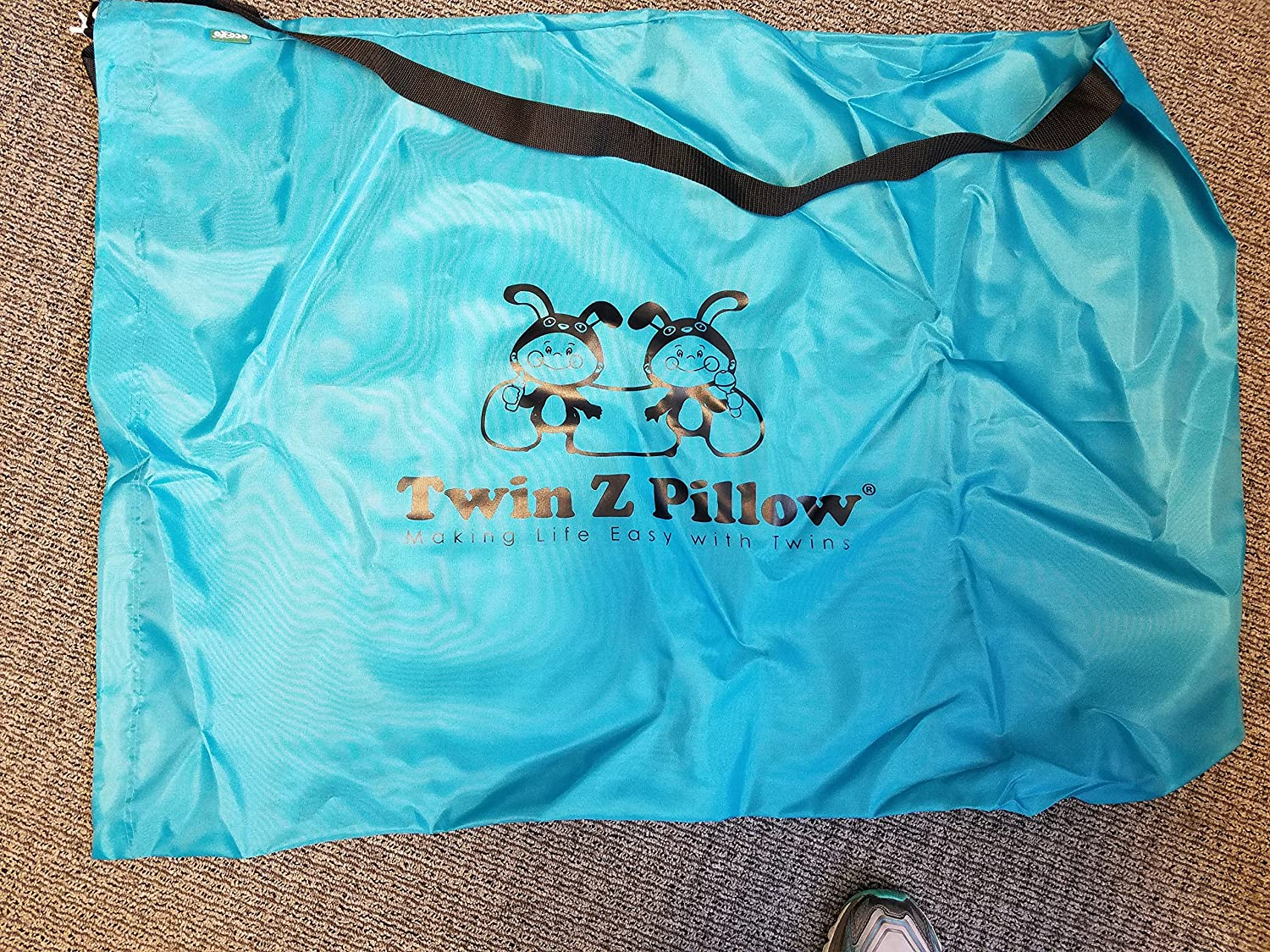 Twin Z Pillow + 1 Teal Cover + Free Travel Bag! Twin Z Company TZTeal