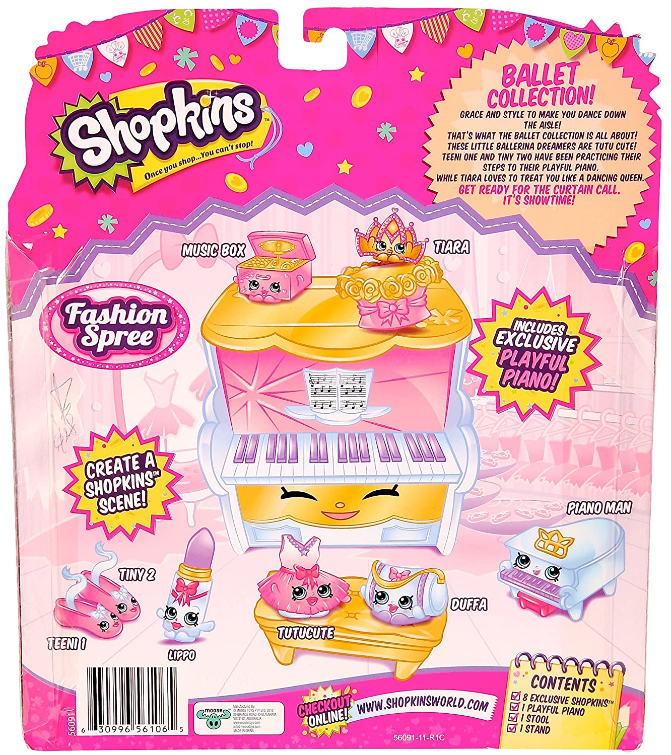 amazon com shopkins s3 ballet collection fashion pack toys games