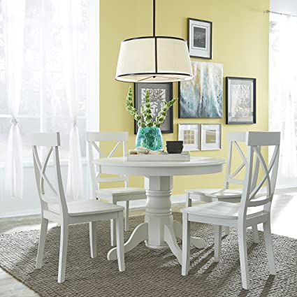 High Quality Home Styles 5177 318 5 Piece Dining Set, Antique White Finish