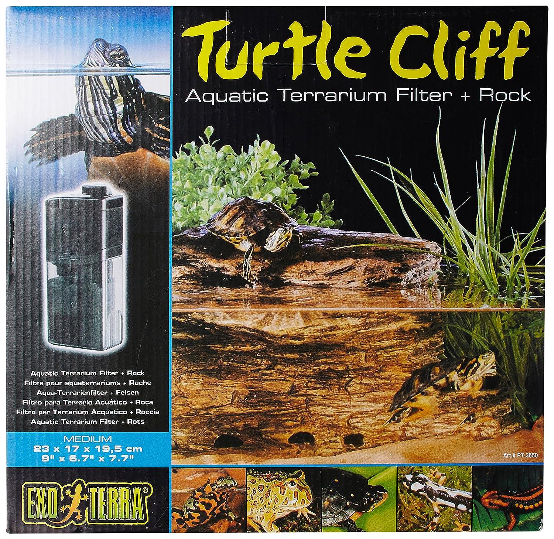 Exo Terra Roccia per tartarughe con filtro, per acquaterrario, Medio, Piccolo Hagen PT3650