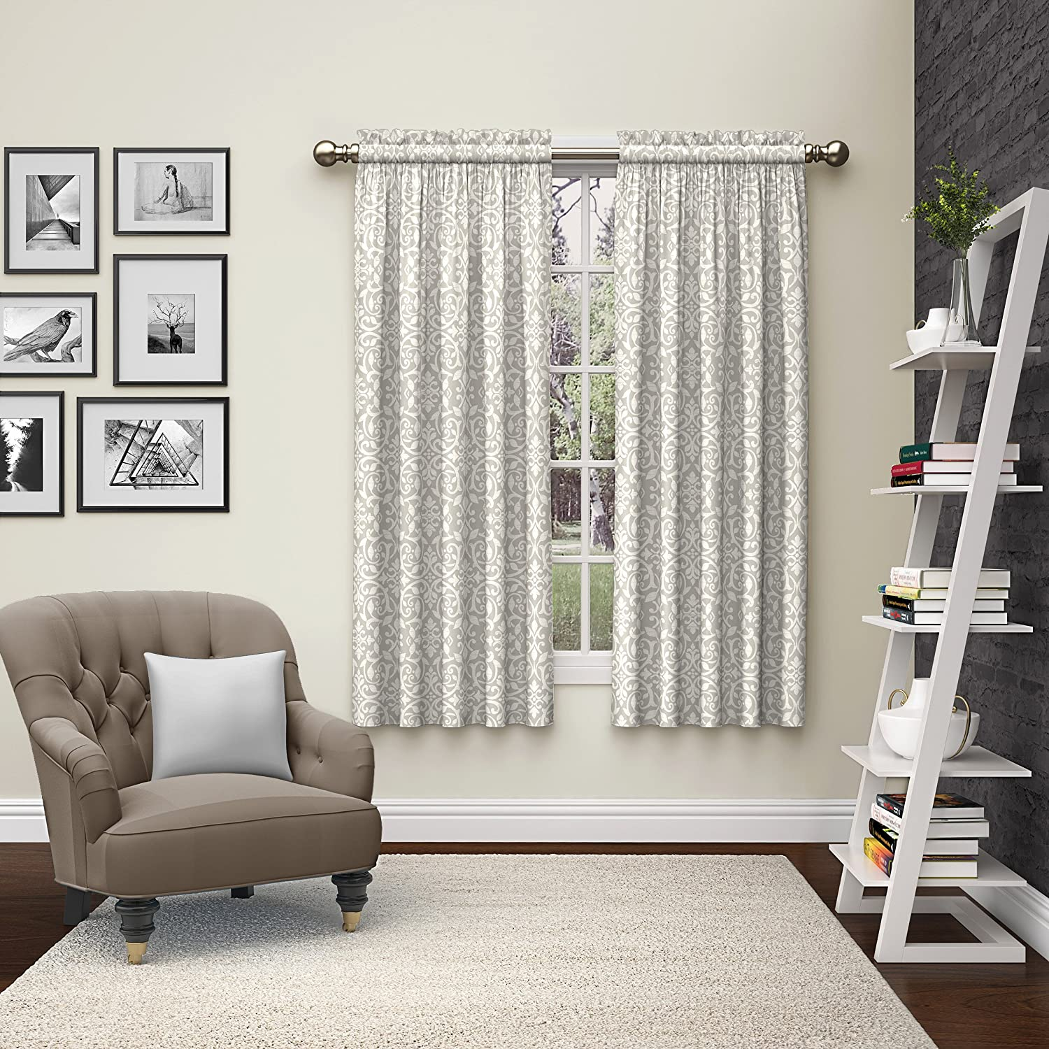 Pairs to Go Eclipse 15614056X063MST Pinkney Window Curtains (2 Pack), 56 x 63, Mist 56 x 63 Ellery Homestyles