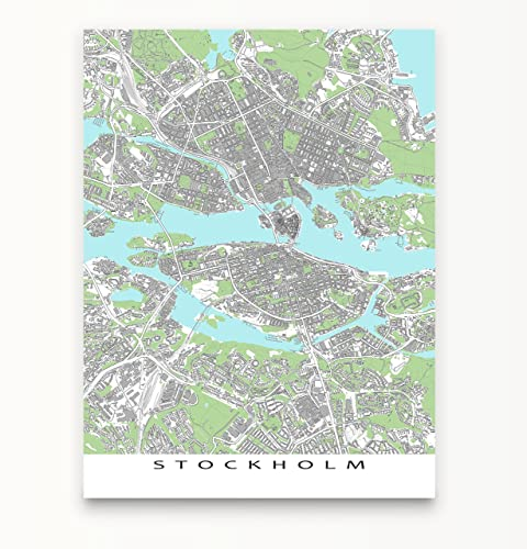 Amazon stockholm map print sweden city street art europe stockholm map print sweden city street art europe publicscrutiny Image collections