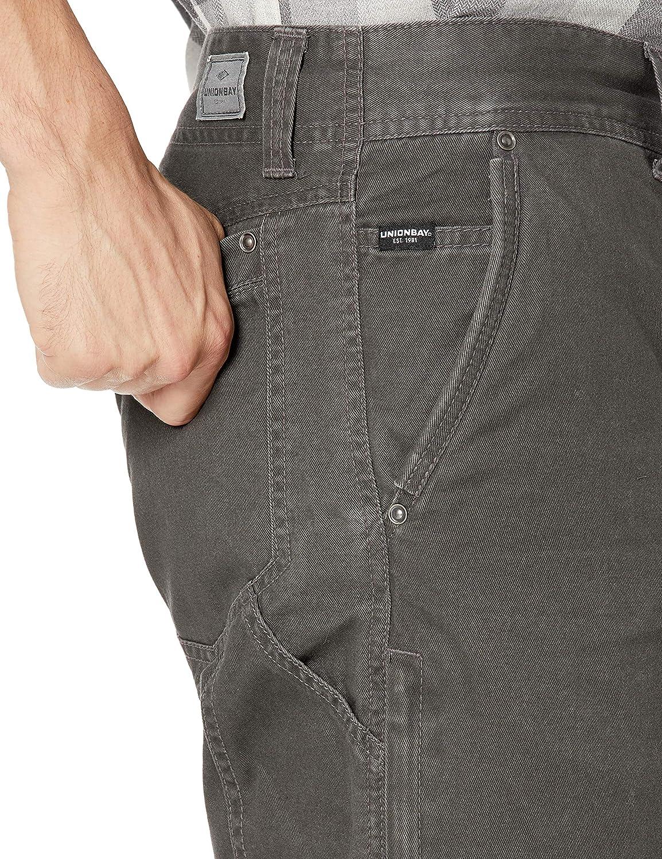 UNIONBAY Mens Luca Vintage Twill Utilty 5 Pocket Straight Fit Pant