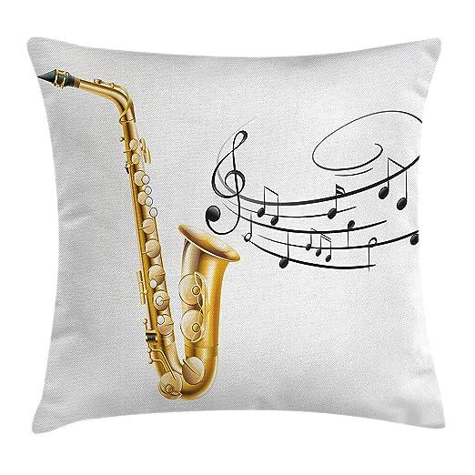 Música manta almohada Funda de cojín por Ambesonne ...