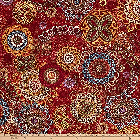 Timeless Treasures Tapestry Carpet Sangria Fabric Fabric By The Yard Amazon In Amazon In