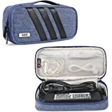 BUBM Carrying Bag for AC Adapter/Travel Organiser for Laptop Charger/ Pouch Cover Case for Power Cord and Other Accessories, Blue