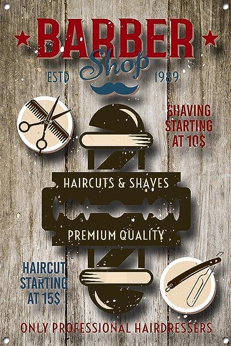 Amazon.com: Personalizado cartel de peluquería, barbería ...