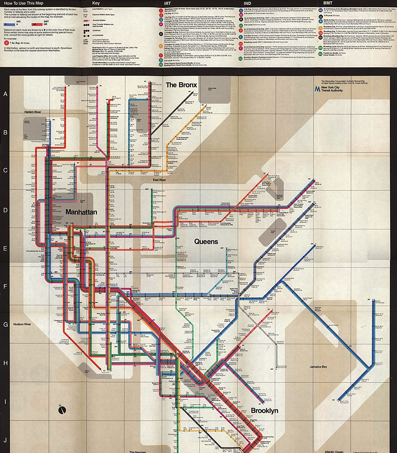 Nyc Subway Map Massimo Vignelli.Amazon Com 1972 Massimo Vignelli New York Subway Map Various