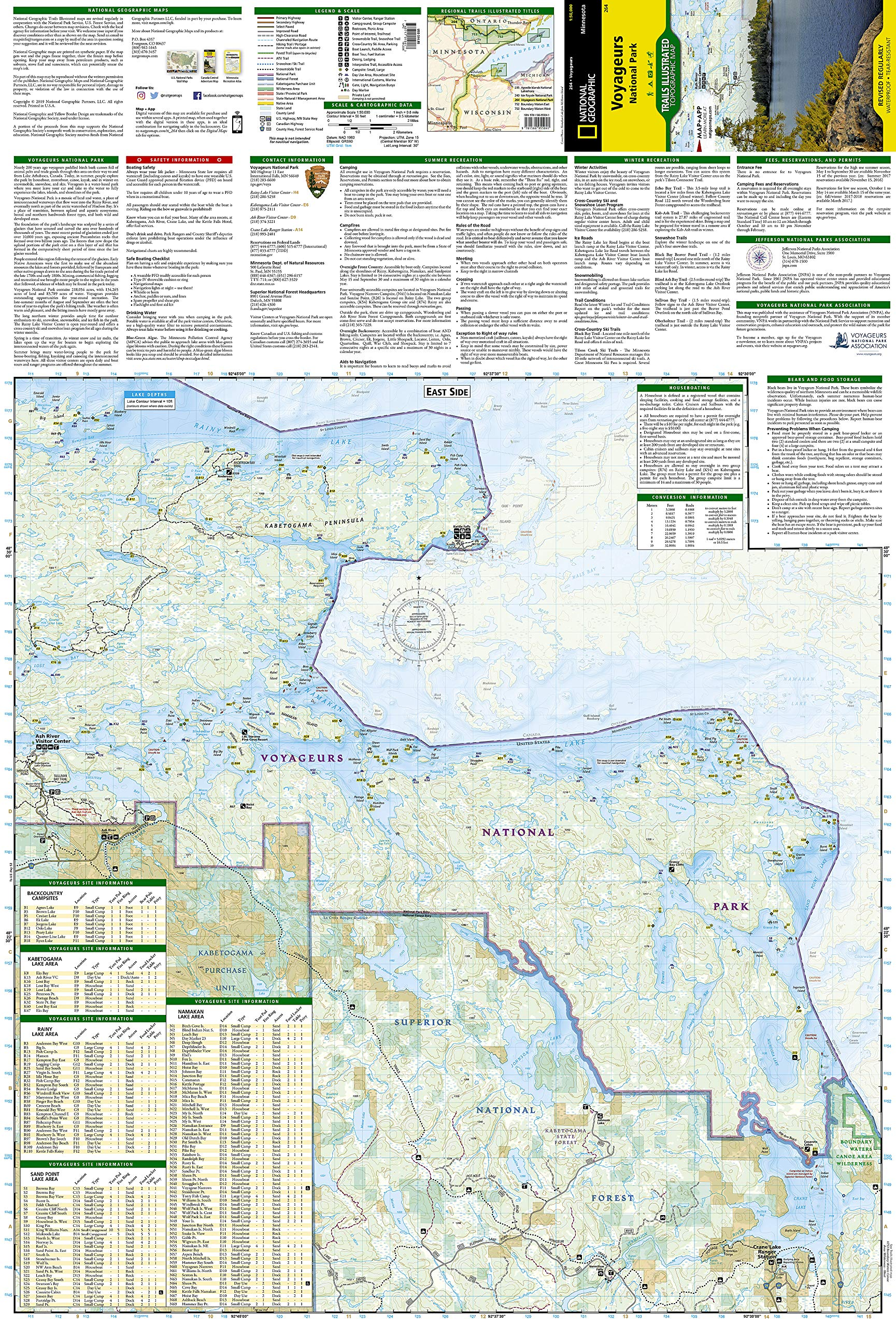 Voyageurs National Park (National Geographic Trails Illustrated Map ...
