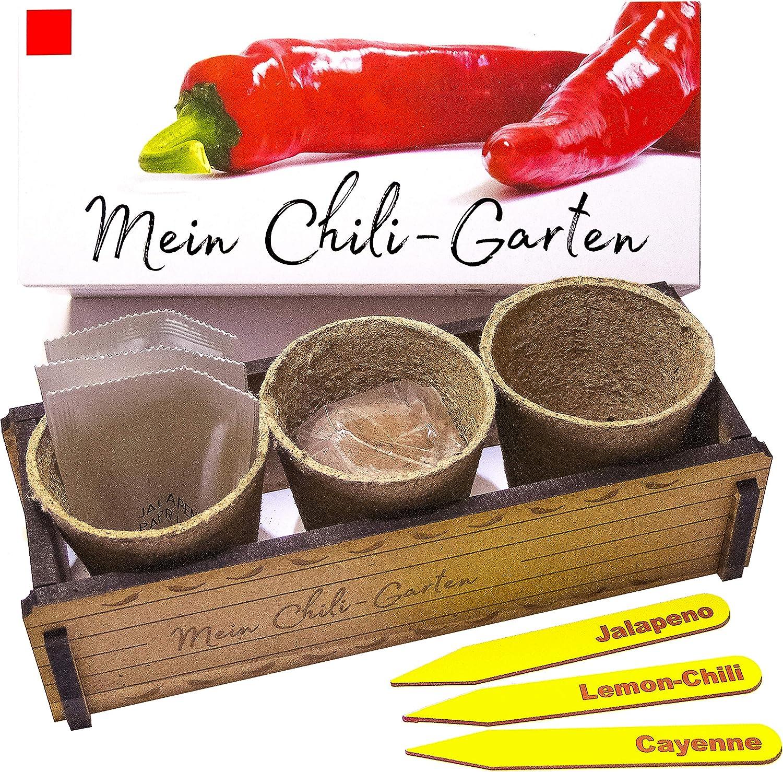 Mi Chili Garten – Un regalo original para cualquier ocasión. Ideal como regalo para Navidad, día del padre, día de la madre, cumpleaños o Pascua.