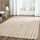 Safavieh Natural Fiber Collection NF447K Hand Woven Grey and Natural Jute Area Rug (8' x 10')