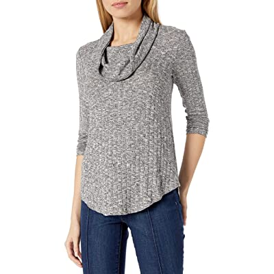 A. Byer Women's Cowl Neck Super-Soft Tunic Sweater with V Hemline (Junior's): Clothing