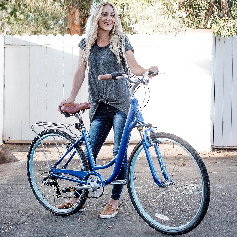 sixthreezero Body Ease Women s Comfort Bicycle with Rear Rack
