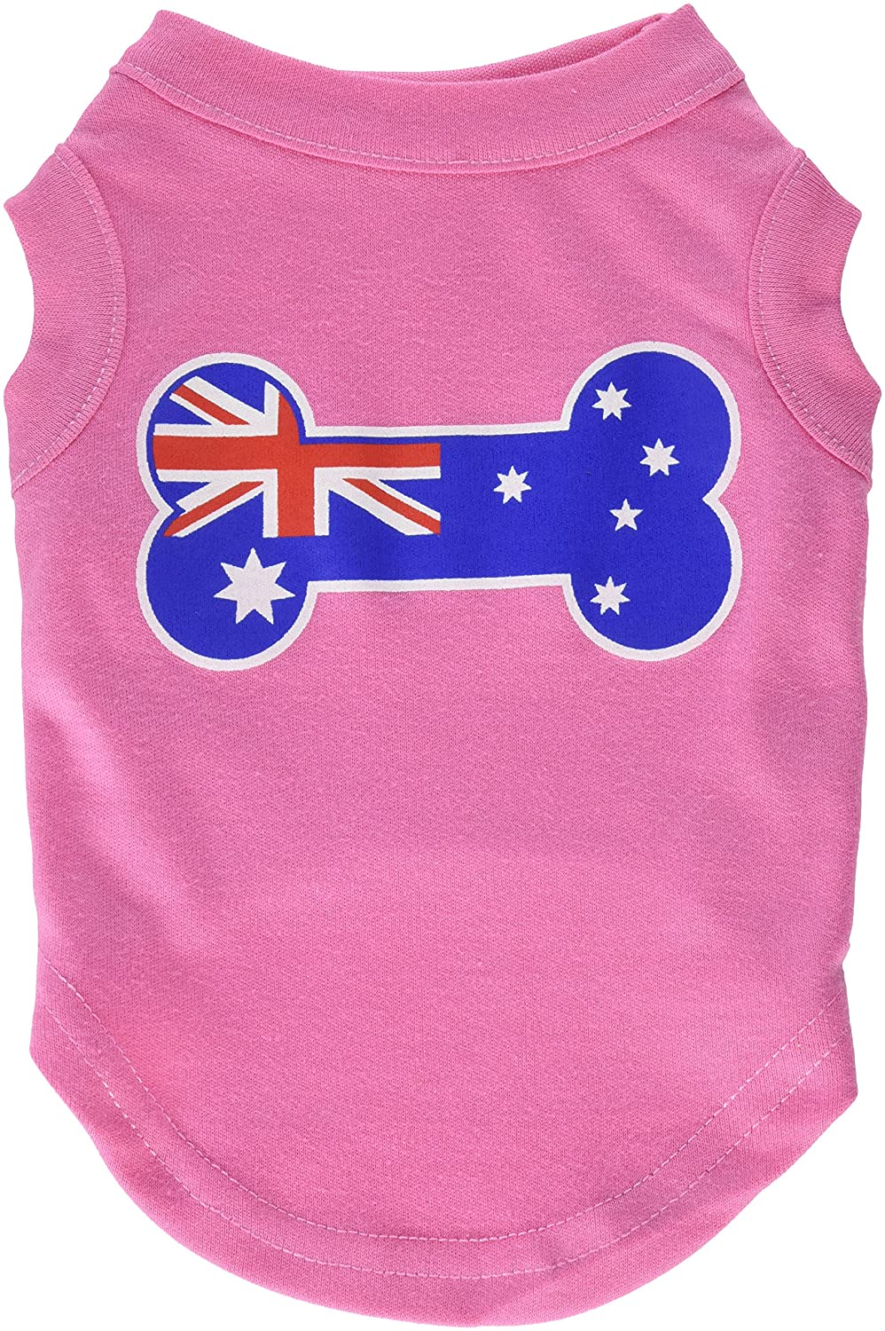 Bright Pink s Bright Pink s Mirage Pet Products Bone Shaped Australian Flag Screen Print Shirt, Small, Bright Pink