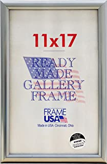 product image for Frame USA 11x17 Deluxe Polystyrene Plastic Poster Frames (Silver) | Multiple Colors Available