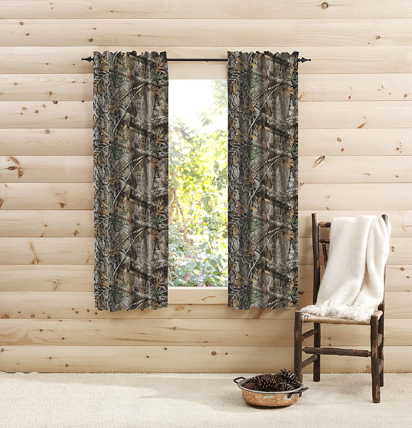 "Realtree Edge Window 63 inches Panel Pair, 63"", Multicolor"