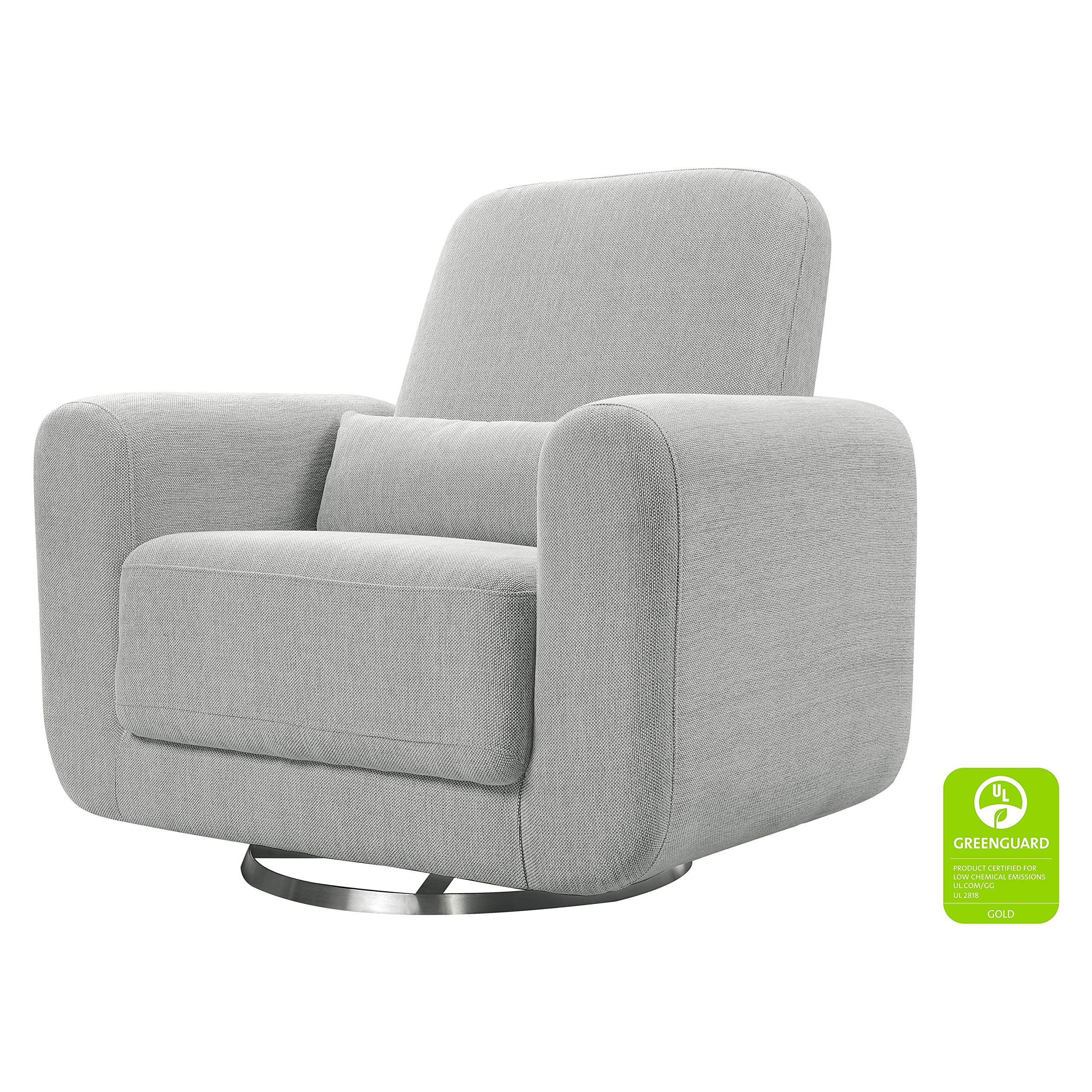Babyletto Tuba Extra Wide Swivel Glider, Winter Grey Weave by Babyletto
