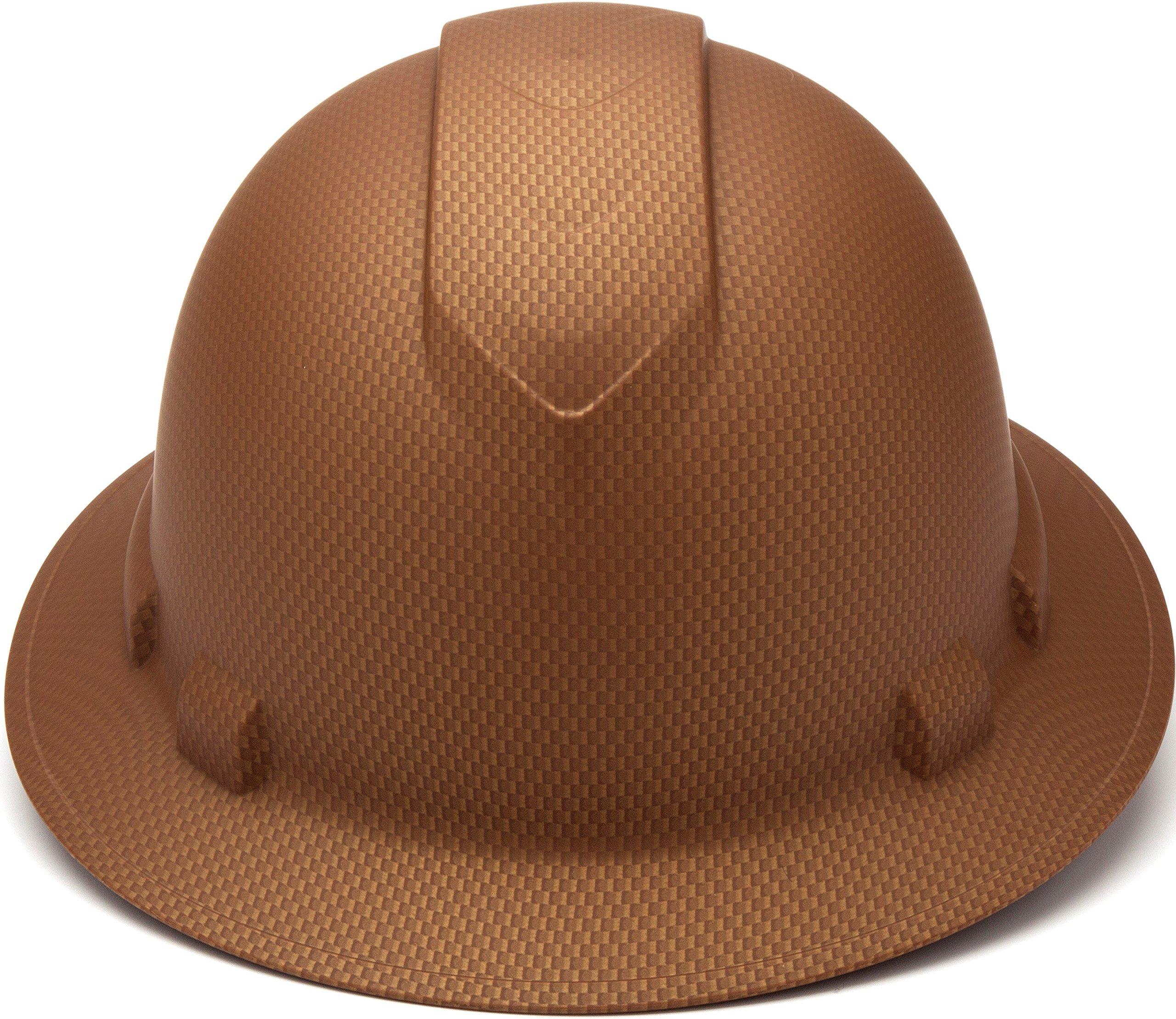 Pyramex Safety PYRAMEX - HP54118 - Copper - Full Brim Ridgeline Full Brim Graphite Pattern Hard Hat, Copper Graphite Pattern by Pyramex Safety (Image #2)