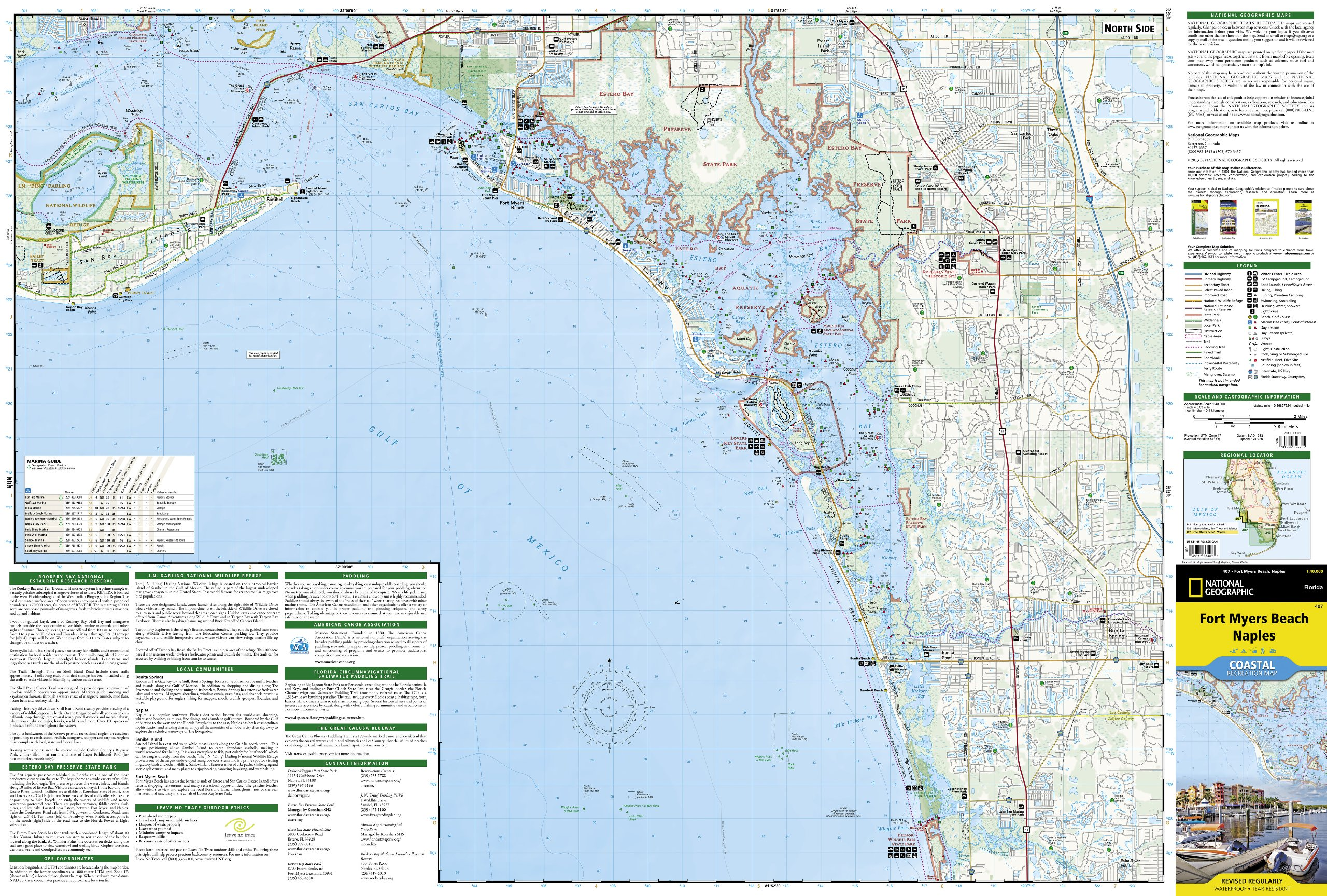 Fort Myers National Geographic Trails Illustrated Map National - Florida map naples fort myers
