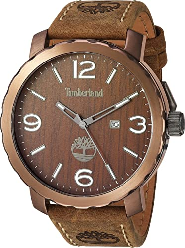 avión Huerta bebida  Amazon.com: Timberland Men's TBL14399XSBN12 PINKERTON Analog Display Analog  Quartz Brown Watch: Timberland Pinkerton: Watches