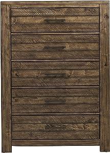 Pulaski Stackhaus Dark Drawer Chest Dresser, Standard, Brown
