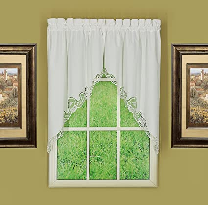 Today's Curtain CA1022K Annabelle Swag Macrame Applique Curtain, 60