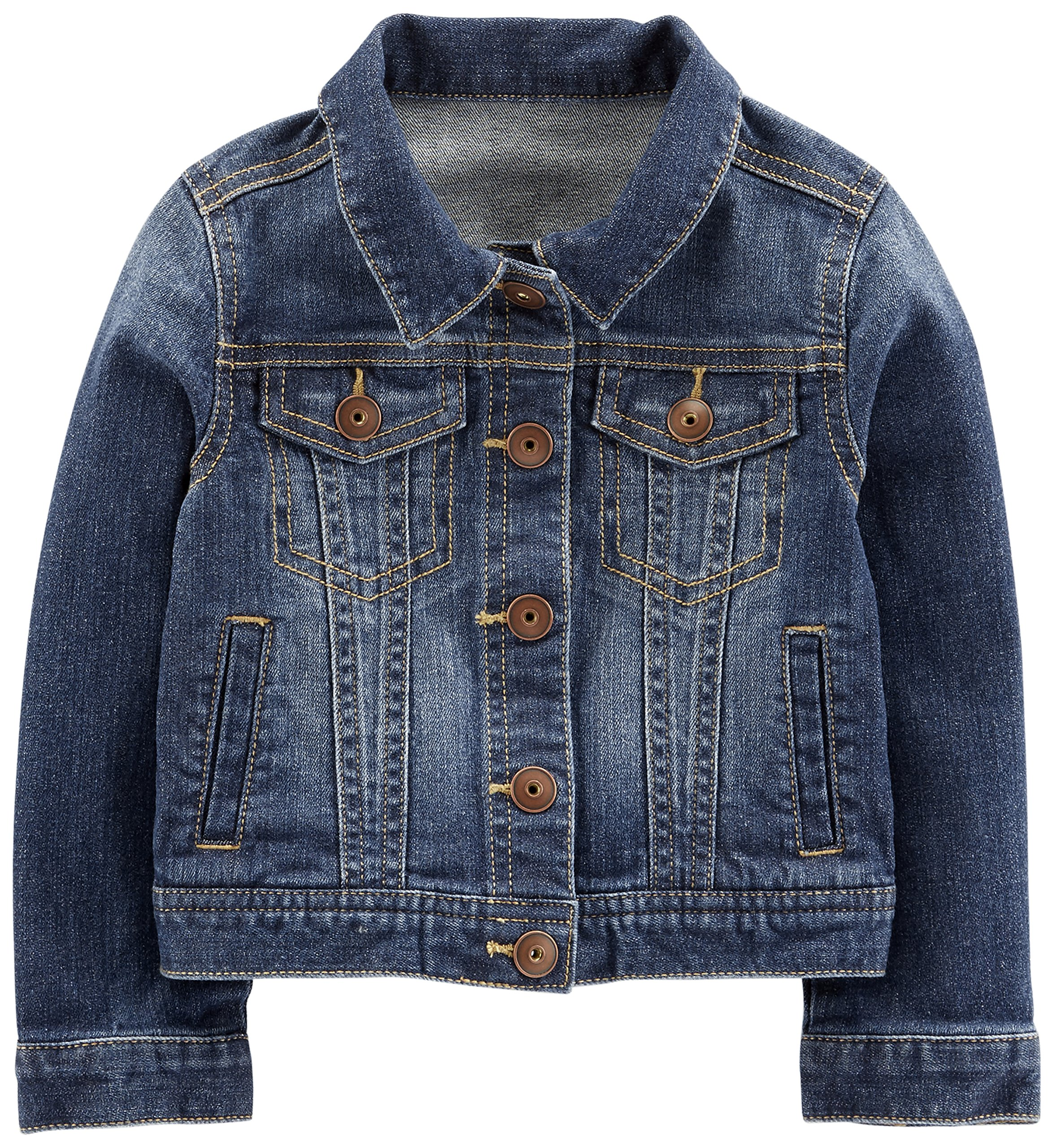 Simple Joys by Carter's Baby Girls' Toddler Denim Jacket, Medium Wash, 4T