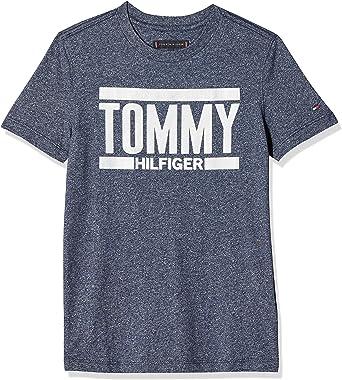 Tommy Hilfiger Essential+ Logo tee S/S Camiseta para Niños: Amazon.es: Ropa y accesorios