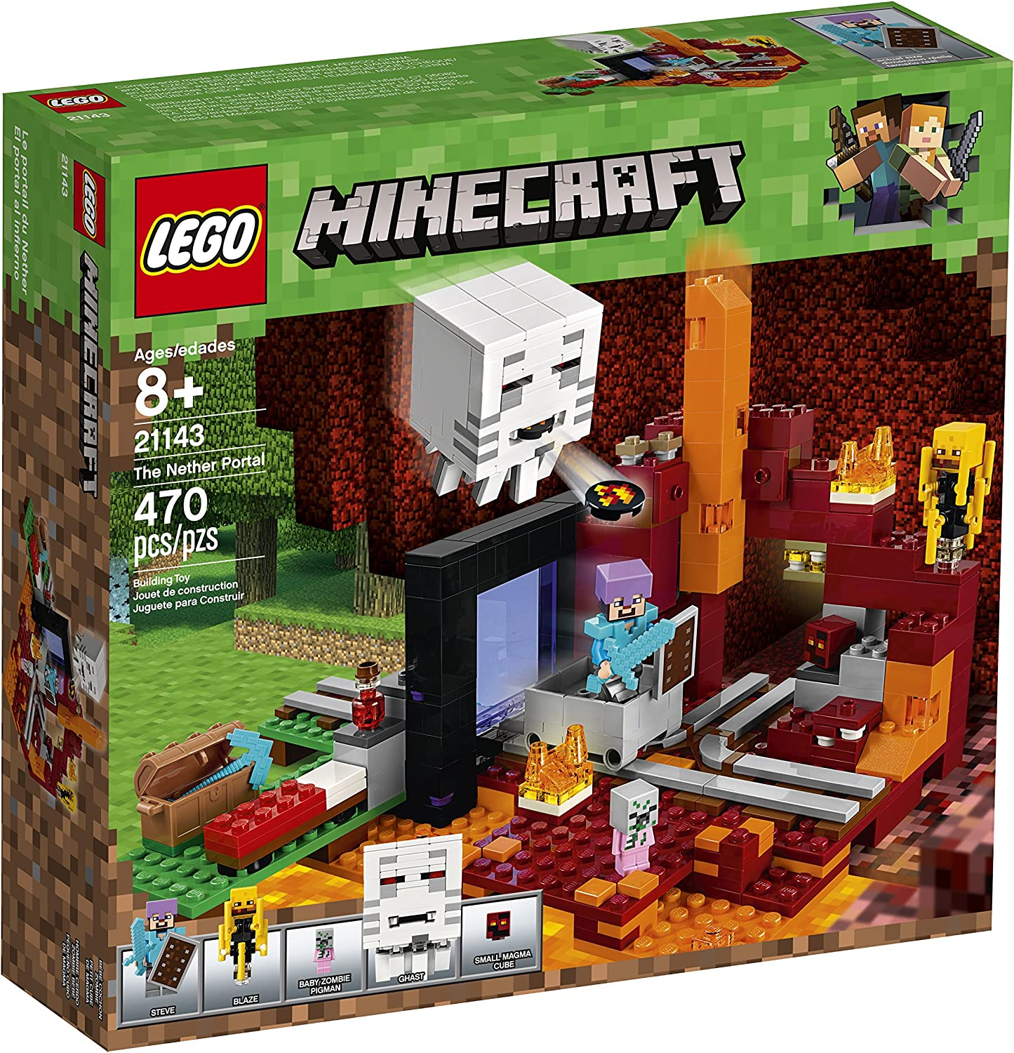 LEGO Minecraft The Nether Portal 10 Building Kit (10 Pieces)