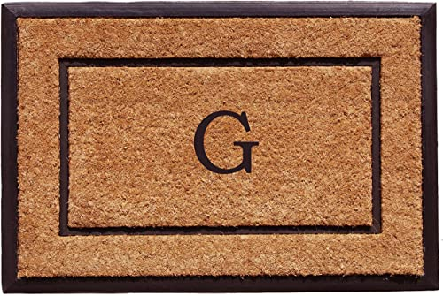 Home More 101632436G The General Monogram Doormat, Letter G