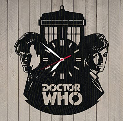 Amazon Doctor Who Wooden Wall Clock Wood Time Lord Design