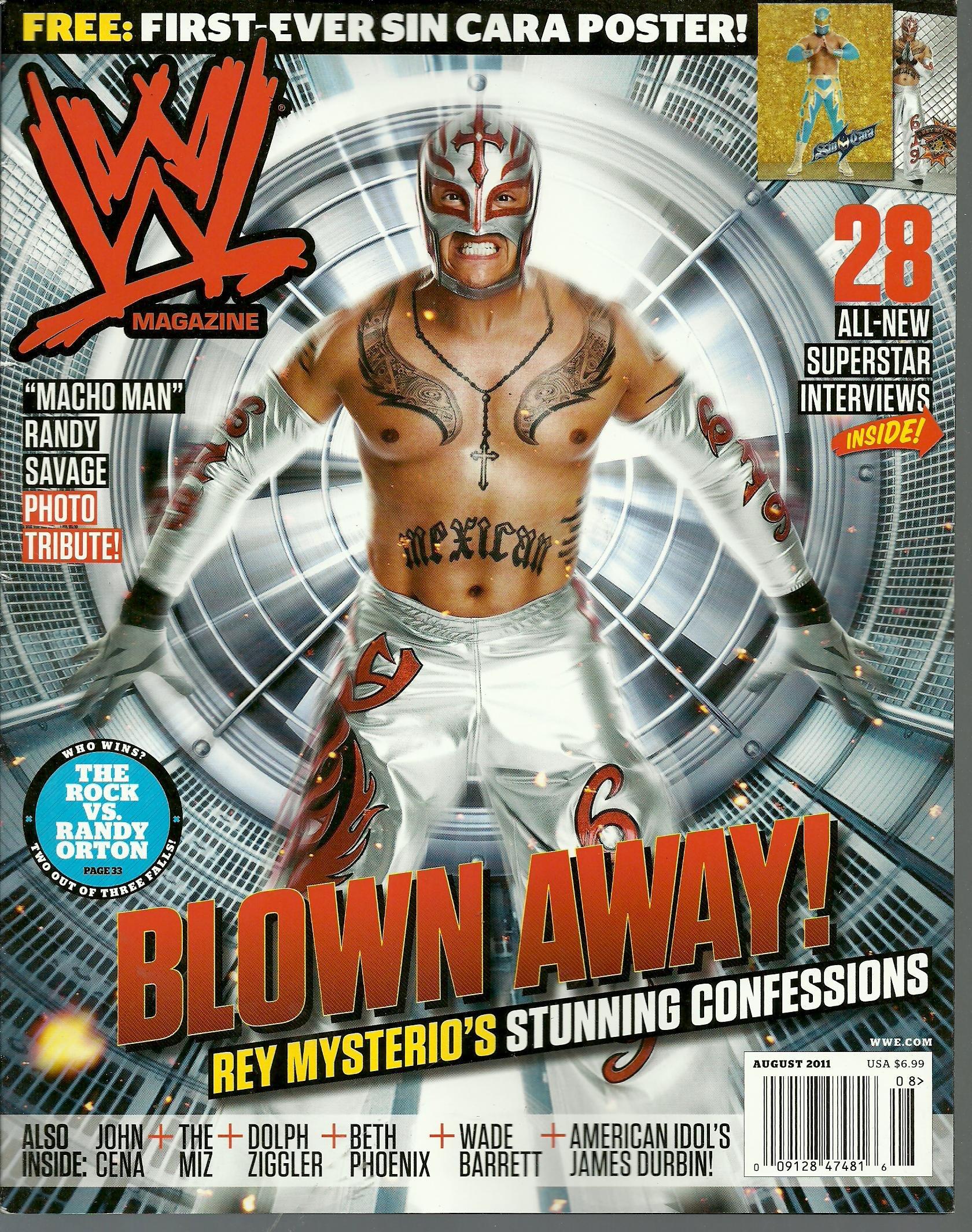 Amazoncom Wwe Magazine August 2011 Rey Mysterio 1st Sin