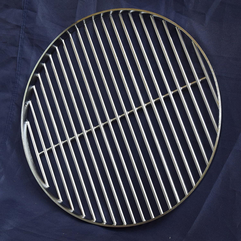 Parrilla para barbacoa (Acero Inoxidable Redondo 50 cm, 8 mm ...