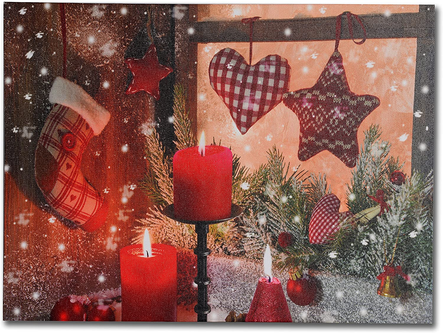 RED HEART TREE CANVAS PRINT PICTURE WALL ART FREE FAST POSTAGE VARIETY OF SIZES