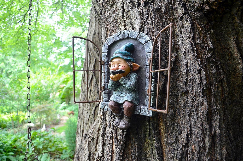 Red Carpet Studios 49062 Window Tree Face Gnome and Bird