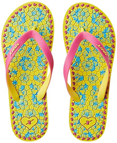 021dc1205 Sparx Women's Yellow and Pink Flip-Flops and House Slippers - 5 UK/India