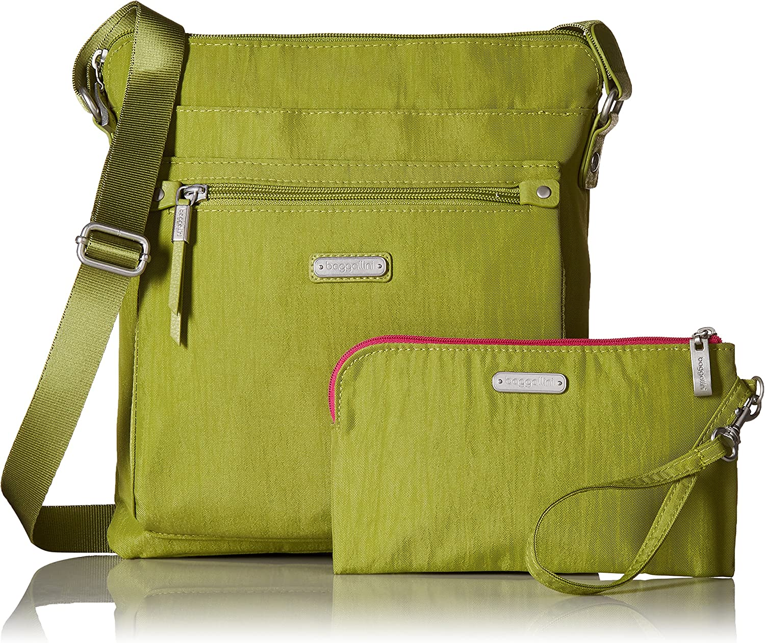 Baggallini Womens New Classic Go Bagg with RFID Phone Wristlet