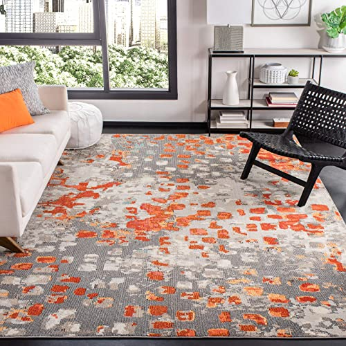 Safavieh Madison Collection MAD425H Boho Abstract Distressed Non-Shedding Stain Resistant Living Room Bedroom Area Rug