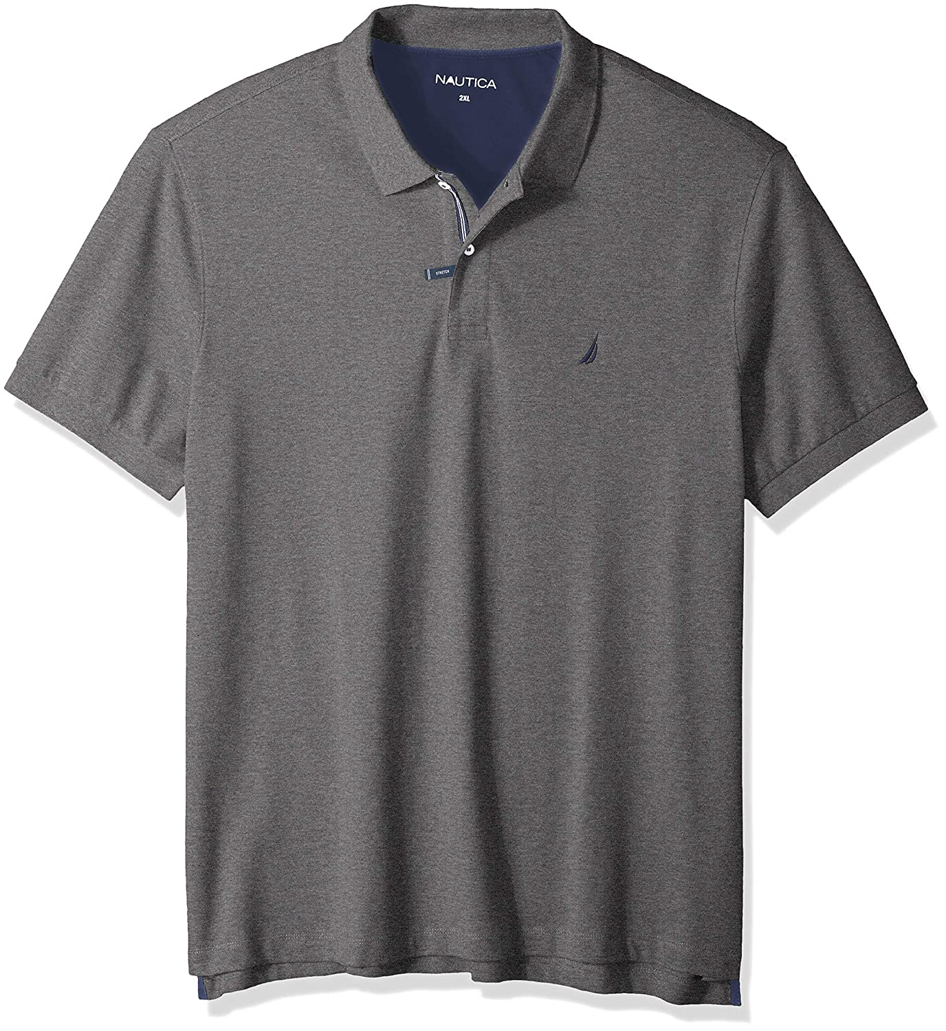 Nautica Mens Big and Tall Short Sleeve Solid Deck Polo Shirt