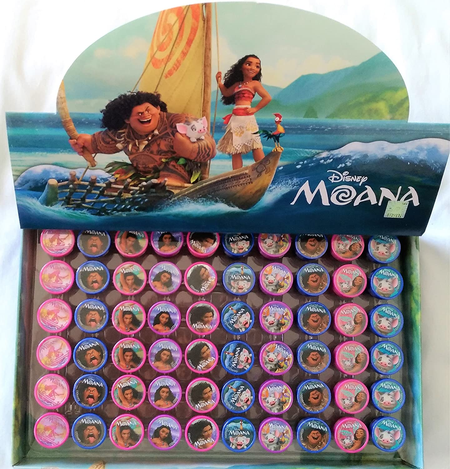 60 pcs Disney Moana Self-inking Stamps Stampers Pencil Topper Authentic Disney Licensed itisyours SG/_B0723BBBDD/_US