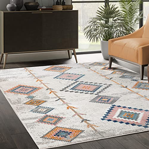 Moroccan Inspired 7 9 x10 2 Multicolor Area Rug – Abani Rugs Porto Collection Geometric Accent Rug