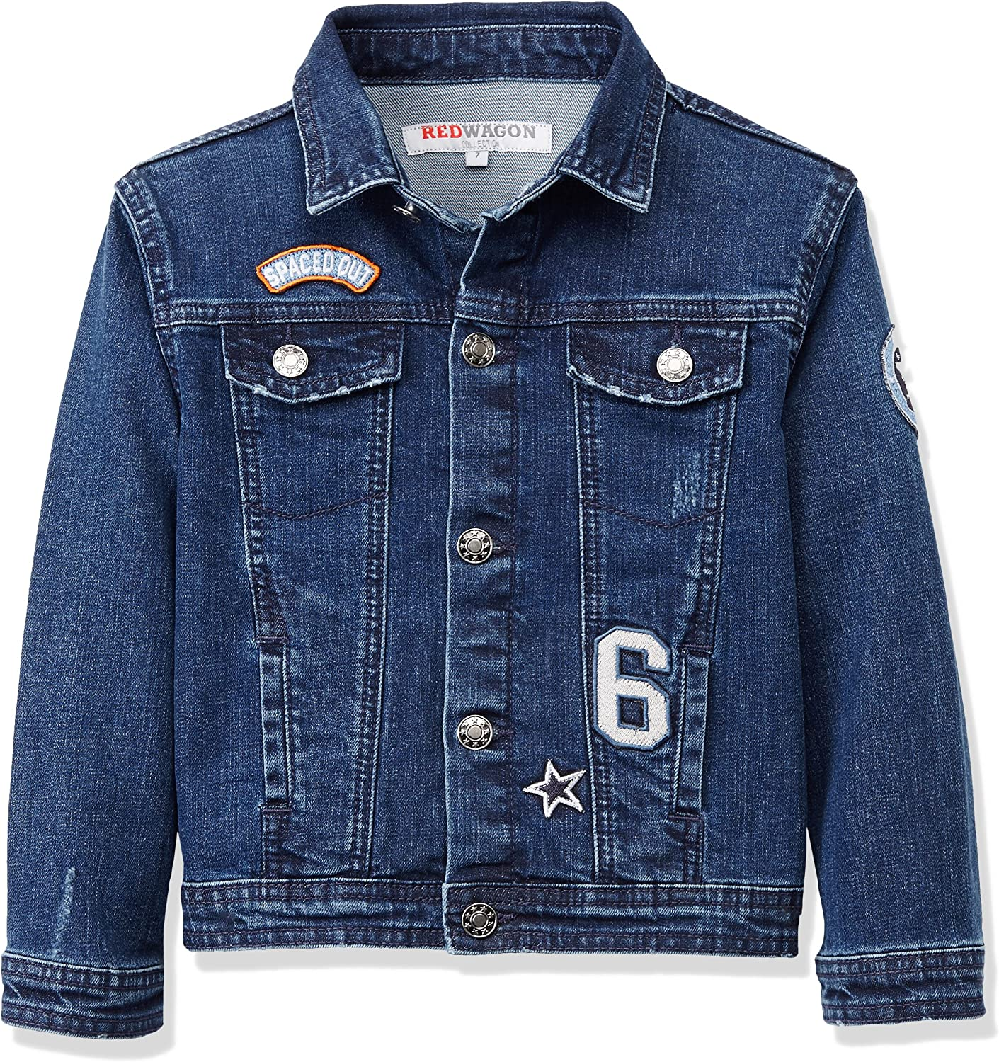 RED WAGON Boys Denim Badge Jacket Brand