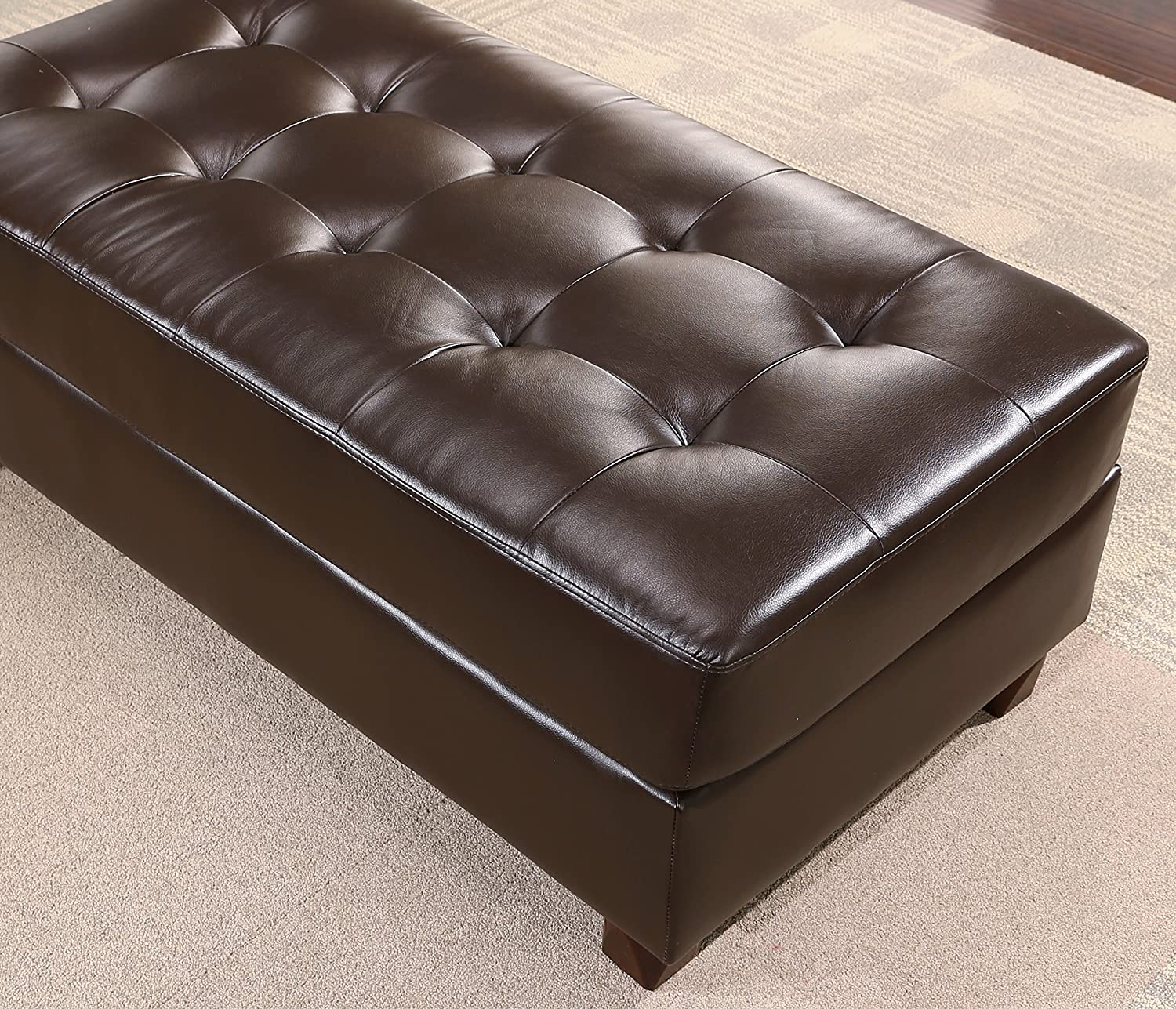 Amazon Abbyson Minneapolis Leather Reversible Sectional And