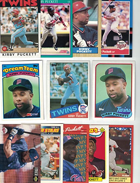 Kirby Puckett 100 Different Baseball Cards Featuring Kirby Puckett