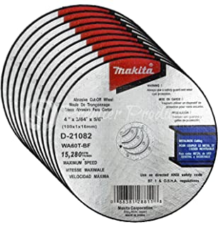 Makita 10 Pack - 4 Inch Cutting Wheels For Grinders - Aggressive Cutting For Metal &